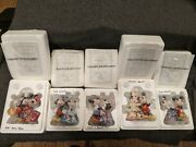 Lot Of 5 Bradford Editions Disney's Once Upon A Kiss Bells Mickey And Minnie Mouse