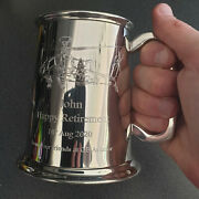 Personalised Helicopter Pewter Tankard Aviation Pilot Engineer Birthday Gift