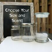 Fall/winter Scented Soy Wax Candles - Glasses And Tins - Choose Your Size/scent