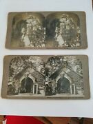 2 Original Vintage Stereograph Cards 1902 President Mckinleys Tomb Free Shipping