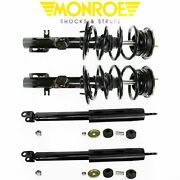 Monroe Front And Rear Quick Struts Shocks Kit For 2010-2011 Taurus Fwd