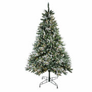 Northlight 6.5' Frosted Sierra Artificial Christmas Tree - Warm White Led Lights