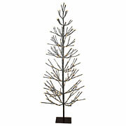 Northlight 6' Led Brown Artificial Christmas Tree Icicle Lights Clear
