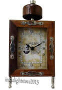 Nautical Collectible Rectangle Maritime Brown Made Of Wood Frame 5 Clock