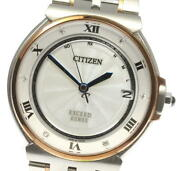 Citizen Exceed Eco-drive H111-t020763 Solar Radio Menand039s From Japan W0618