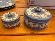 Authentic Wedgwood Jasperware Trinket Boxes- Mint Condition. No Chips/scratches.