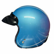 Viper Rs-05 Motorcycle Scooter Motorbike Open Face Jet Style Helmet Aqua Blue