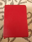 Neb New English Bible With Apocripha Red Cowhide Leather Personal Size Rare