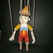 Vintage Carved Handpainted Wooden Marionette Puppet Pinocchio 15