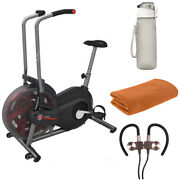 Schwinn Airdyne Ad2 Upright Exercise Bike, Black With Fitness Accessories Bundle