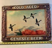 Vintage Cold Aged Genesee Beer Lighted Sign Panel Only Flying Geese Westol