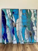 Abstract Stained Glass Window Cabinets Inserts Transom Panel Contemporary