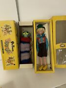 Vintage Pelham Puppets Marionettes Made In England 2pcs