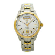Tag Heuer Link Wjf2050 Day-date Caliber 5 Mens Automatic Watch 41mm