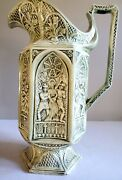 Vintage Charles Meigh Gothic Style Replica Station Of The Cross Pitcher/ewer