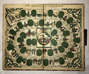 Rare Antique Game Board Mansion Of Happiness 1864 S. B. Ives Salem Mass.