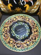 Versace Gold Ivy Limited Charger Plate 20 Years Luxury Wall New Box