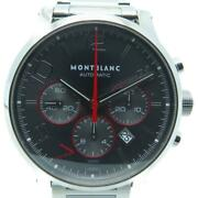 Mont Blanc Timewalker Watch Stainless Steel Automatic Grey 6827