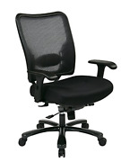 Space Seating Big And Tall Airgrid Back And Padded Mesh Seat Adjustable Arms