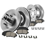 For Ford 1999 F-150 2wd Front And Rear Premium Oe Brake Rotors And Ceramic Pads