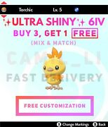 ✨shiny✨ / 🔥normal🔥 6iv Custom Torchic + Egg For Switch And 3ds Fast Delivery