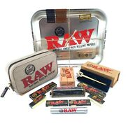 Raw Gift Set Mega Pack Metal Rolling Tray With Assorted Raw Papers And Accessories