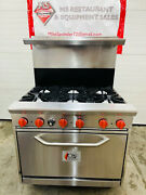 Cpg 36andrdquo Nat Gas. E Series Commercial 6 Burner Range W/ Standard Oven Nearly New