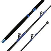 Fiblink 1-piece Saltwater Offshore Trolling Rod Conventional Boat Rod Roller ...