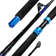 Fiblink 1-piece Saltwater Offshore Trolling Rod Conventional Boat Rod Carbon ...