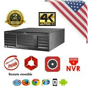 128ch Nvr W/ Raid Support 4k Oem Hikvision 96128ni-f16 Lts Cctv Security