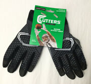 Cutters Football Game Day Receiver Gloves Super Sticky Grip Adult L / Xl S15