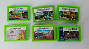 Leap Frog Explorer 6 Game Lot - Disney Pixar Tangled Cars Toy Story Leapster Pad