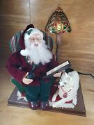 1996 Rare Holiday Creations Animated Musical Motionette Santa And Dog Exc.cond