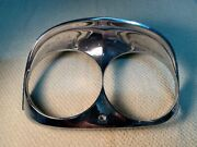 Used Bad-13052-a Right Head Lamp Bezel 1958 Ford Good Driver Quality