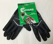New Cutters Football Game Day Receiver Gloves Super Sticky Grip Adult S / M E6