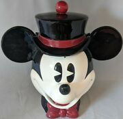 Disney Mickey Mouse Top Hat Cookie Jar Original Box Enesco New Pie-eyed And Co