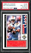 1998 Collector's Choice Peyton Manning Rookie Card Autograph 193 Psa 8 / Auto 9