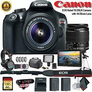 Canon Eos Rebel T6 Dslr Camera With 18-55mm Lens 1159c003 W/bag Extra