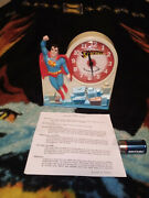 Vintage 1974 Janex Superman Talking Alarm Clock Tested Complete And Working