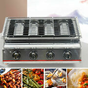 4burner Portable Stainless Steel Bbq Table Top Lpg Gas Grill Outdoor Camp Picnic