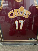 2015-16cavaliers Team Singed Framed Jersey Lebron James-kevin Love-kyrie Irving