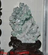19.2chinese Ancient Natural Jadeite Carving Auspicious Kwan-yin Guanyin Statue