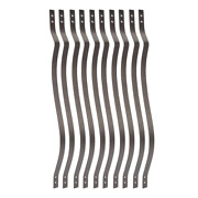 31 In. X 1 In. Antique Bronze Steel Belly Deck Railing Baluster 10 Pack