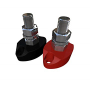 Positive Insulated Battery Power Junction Post Block 3/8 Red And Black Set