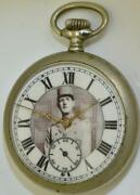Rare Wwii Era French Resistance Military Officers Lip Pocket Watch.gen.de Gaulle