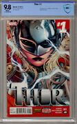 Thor 1 - Cbcs 9.8 - White Pages - 2014 - 1st Print Jane Foster As Thor