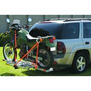 New 400 Lb. Hitch Receiver Mount Motorcycle Carrier Trailer Hauler 2 Receiver