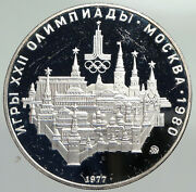 1977 Russia 1980 Moscow Summer Olympics Proof Silver 10 Roubles Coin I92218