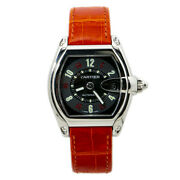 Roadster 2510 W62002v3 Orange Leather Strap Menand039s Automatic Watch 37mm