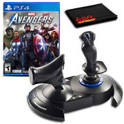 Thrustmaster Tflight Hotas 4 Flight Stick With Marvels Avengers Game For Ps4